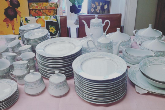 Use what you registered for! Don't wait for your dinnerware to end up in the thrift store.