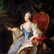 Catherine the Great of Russia by Fedor Rokotov, Tretyakov Gallery