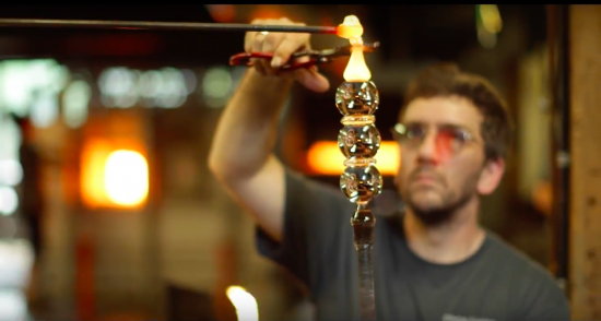 Glassmaking requires total concentration