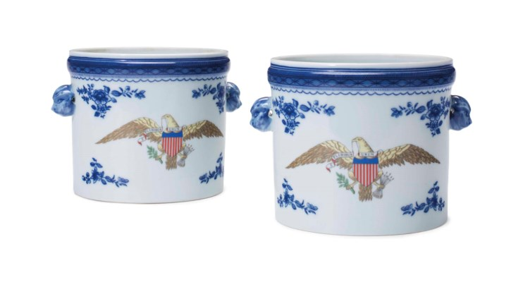 Diplomatic Eagle Wine Coolers/Cachepots from the private collection of Ronald and Nancy Reagan