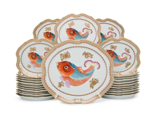Chinese export porcelain with carp motif from the private collection of Ronald and Nancy Reagan