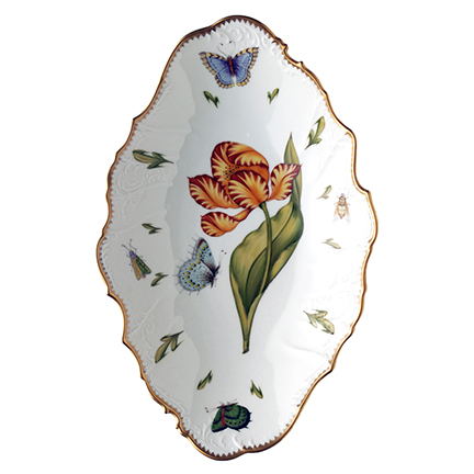 Anna Weatherley Old Master Tulips Oval Vegetable Bowl