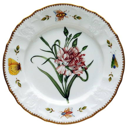 Anna Weatherley Redoute Pink Carnation Salad Plate