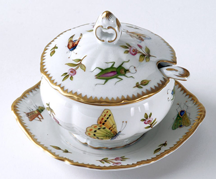 Anna Weatherley Spring in Budapest Condiment Dish with Spoon