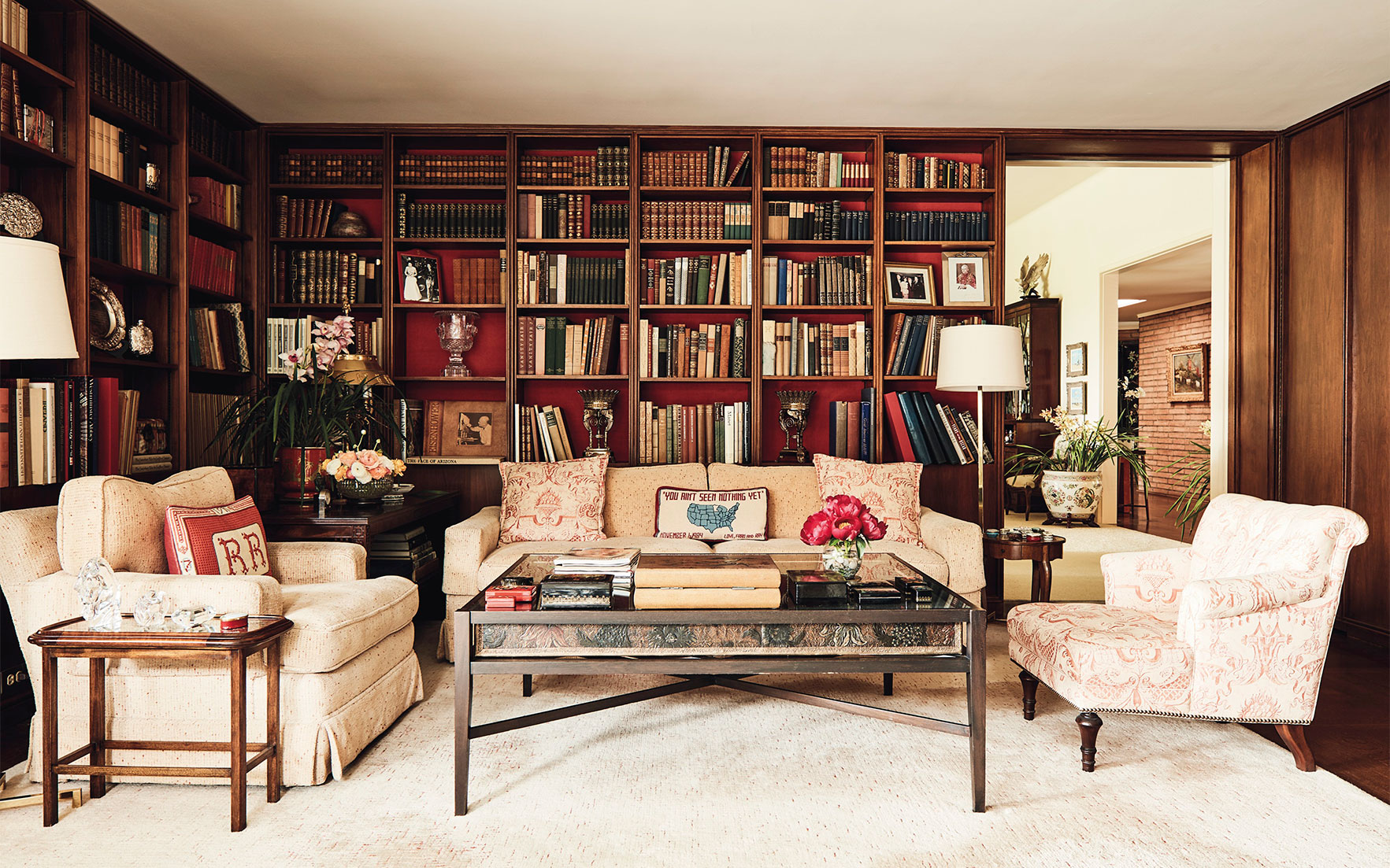 Reagan Bel Air private residence library; image Christie's