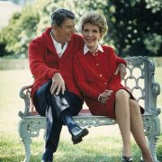 Former U.S. President Ronald Reagan and Nancy Reagan; image Ronald Reagan Presidential Library/Getty Images