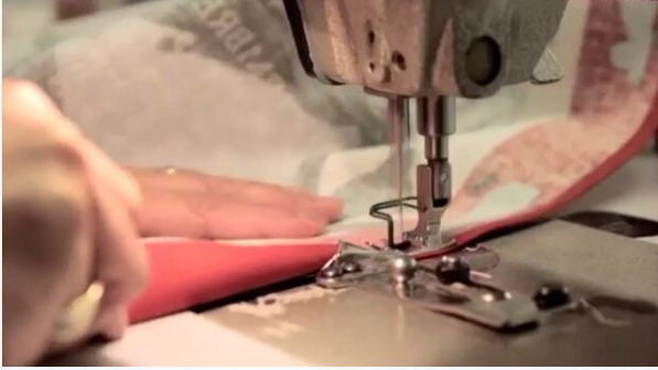Every item is sewn and ironed by hand