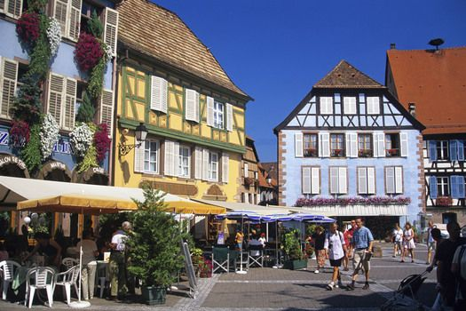 Ribeauville in Alsace region of France