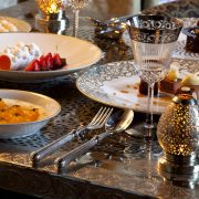 Royal Mansour Marrakech Restaurant featuring Alain Saint-Joanis flatware (image exclusifvoyages)