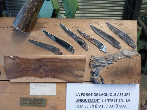 Forge de Laguiole knife components (courtesy tripadvisor)
