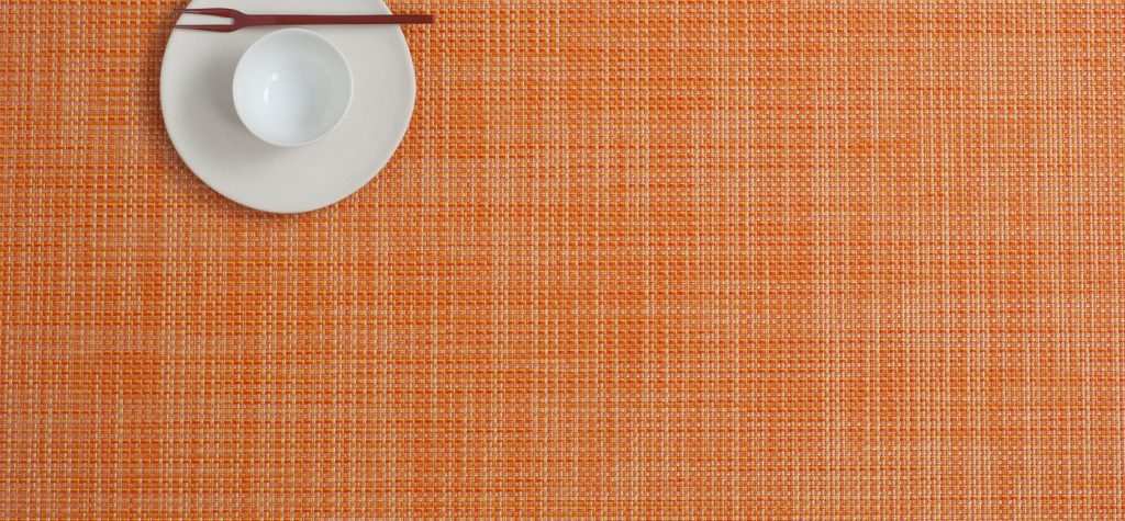 Mini Basketweave Placemat in Clementine