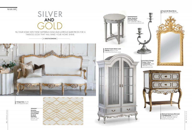 French Style Winter 2018 Silver and Gold
