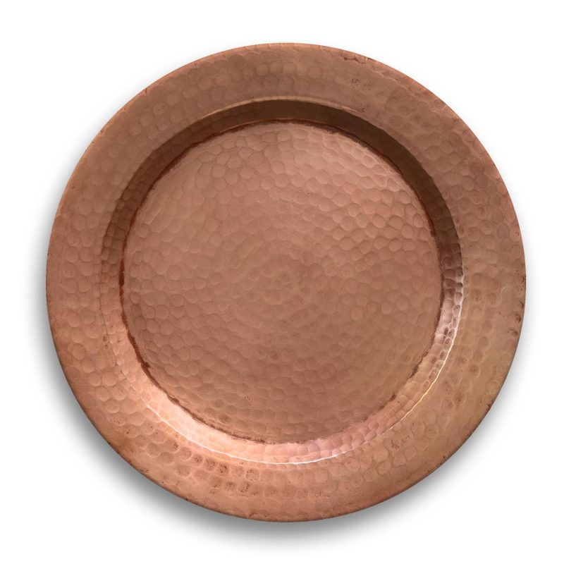 Copper Melamine Chargers by TarHong
