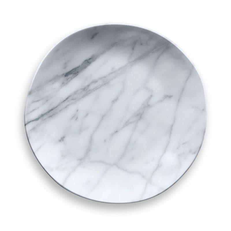 Carrara Marble Melamine Dinnerware