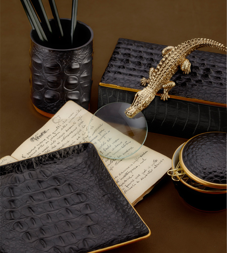 From Candle To Desk Collection Crocodile By L 39 Objet Gracious Style Blog
