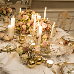 Singer Marie Carmen Koppel chose to set her table with Flora Danica because as she says u201cit has always been one of my greatest wishes to set a Christmas ... & Holiday Tables by Royal Copenhagen | Gracious Style Blog