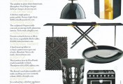 Black Is Back: Hemisphere Vinyl Dinnerware in Veranda Magazine