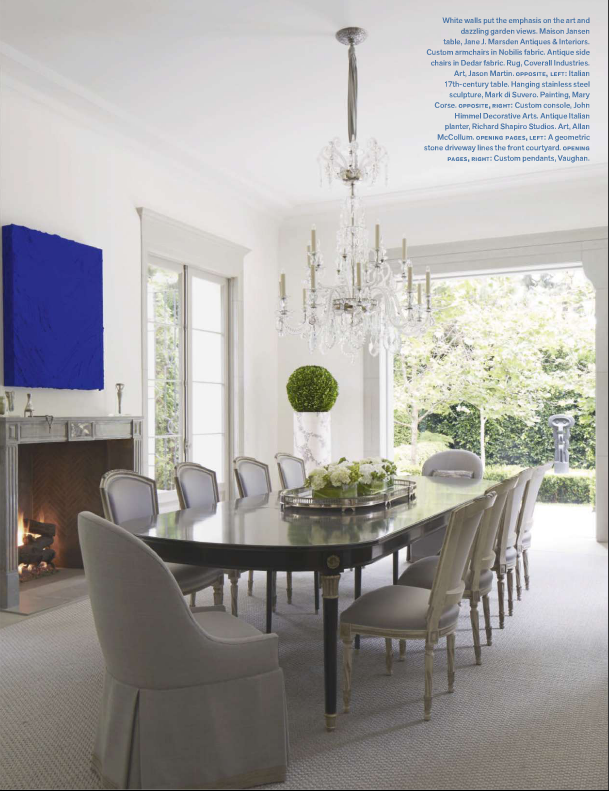 Instant makeover a classic yet modern table gracious style blog - Veranda dining rooms ...