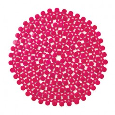 Pink Round Bamboo Placemats