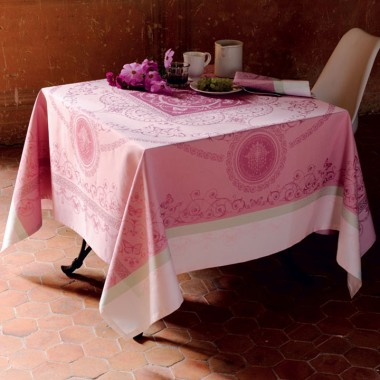 Eugenie Candy Stain Resistant Table Linens
