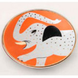 Elephant Orange/White Small Bullet Bowl (4.5 x 1.5) | Gracious Style
