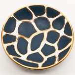 Giraffe Print Blue Bullet Bowl by Wayland Gregory Ceramics | Gracious Style