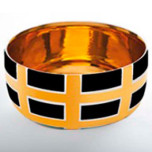 Grid Black Chubby Bowl by Wayland Gregory Ceramics | Gracious Style