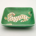 Leopard Green Tray by Wayland Gregory Ceramics | Gracious Style