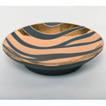 Zebra Print Grey Bullet Bowl by Wayland Gregory Ceramics | Gracious Style