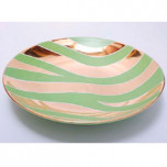 Zebra Print Green Bullet Bowl by Wayland Gregory Ceramics | Gracious Style