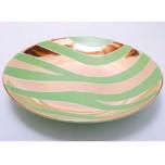 Zebra Print Green Bullet Bowl by Wayland Gregory Ceramics   Gracious Style