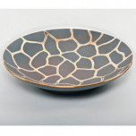 Giraffe Print Grey Bullet Bowl by Wayland Gregory Ceramics | Gracious Style