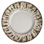 Jaune de Chrome Cream Scale Platinum Dinnerware