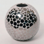 Platinum Dot Globe Vase by Wayland Gregory Ceramics | Gracious Style