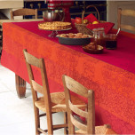Villa Toscane Coated Opera Red Table Linens