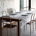 Zigzag Enduite Coated Grey Table Linens