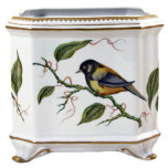 Giftware Sparrow Square Cachepot 6 in x 6 in 7 in High