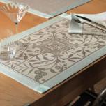 Venezia Ash Beige Table Linens