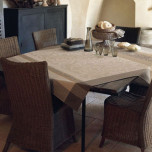 Provence Coated Beige Table Linens