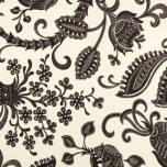 Dinner Napkins - Black & White Floral Print | Gracious Style
