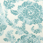 Dinner Napkins - Aqua Blue Abstract Floral Print | Gracious Style
