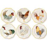 Plumes Set of Six Dinner Plates