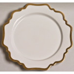 Antique White with Gold Dinnerware
