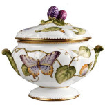 Anna Weatherley Giftware Butterfly Covered Dish 7 in High
