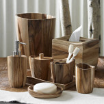 Acacia Wood Bath Accessories