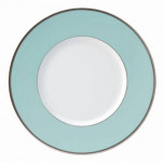 Indienne Turquoise Matte Platinum Filet Presentation Plate 12.6 In
