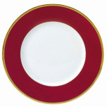 Indienne Raspberry Gold Filet Presentation Plate