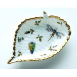 Spring in Budapest Bee, Grasshopper, & Ladybug Leaf Ring Dish 5 in