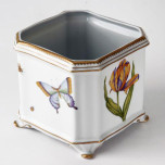 Studio Collection Floral Square Cachepot 6 in x 6 in 7 in High