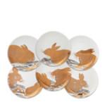 Rabbits Gold Platinum Canapes Mixed Boxed Set/6 | Gracious Style